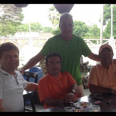 Colombia 2017, con Helmuth Wennin e Renato Damiani di Colombiagol
