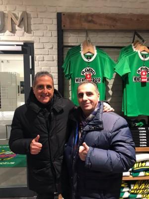 Vienna, con il nostro scout e amico Carlo Borelli, in occasione di Rapid Wien-Internazionale