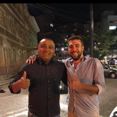 Alberto Cesarini con Erivelton Lima Chief Scout Gremio.