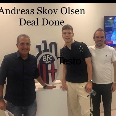 Trasferimento di Andreas Skov Olsen , con Michael Bolvig Agente