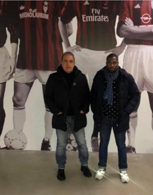 Mauro Cesarini e Badou Sambague', meeting con l'A.C. Milan